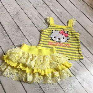 Hello kitty yellow/gray set